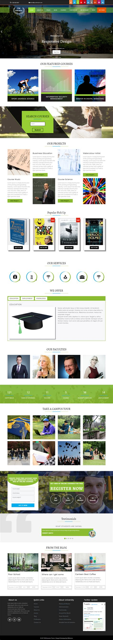 theme education wp best education wordpress theme for school and college in 2017