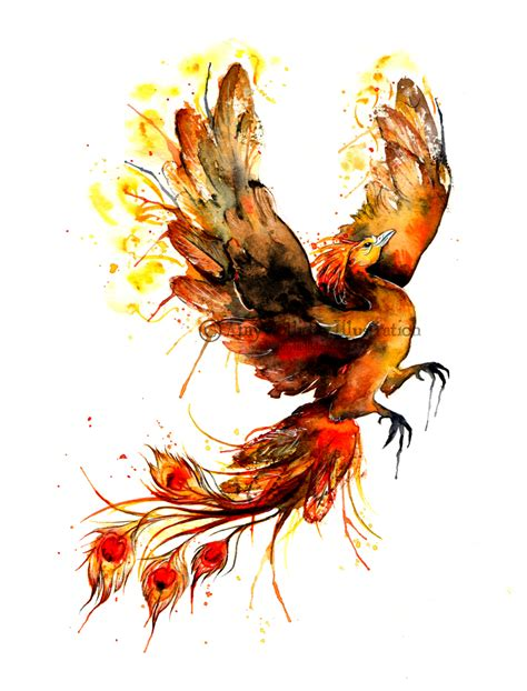 amy holliday illustration tattoo a phoenix risen