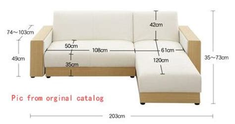 couch cushion dimensions l shaped sofa bed japanese style adjustable singapore