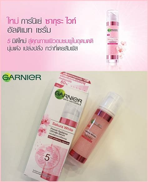 Serum Garnier Essence garnier white pinkish radiance ultimate serum 50ml thailand best selling products
