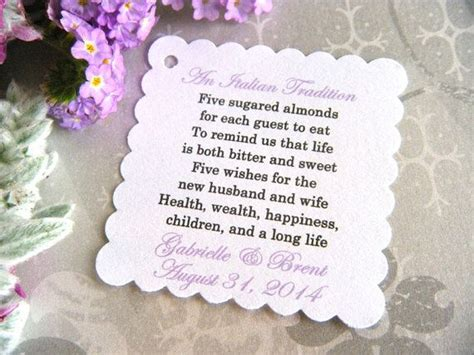 almonds meaning card templates 300 custom printed almond wedding favor tags on