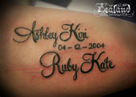 lettering names and date lettering tattoos pinterest