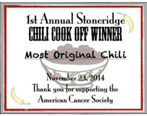 casi chili cook off award certificate pictures to pin on