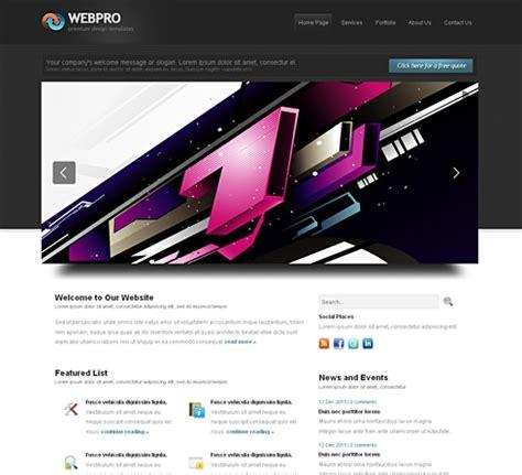 free 3d website templates webpro cuber css template 3d cuber css templates