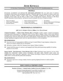 resume summary examples criminal justice 1