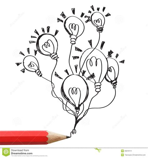 How To Drawing Ideas Pencil Drawing Light Bulbs Idea Concept Stock Image