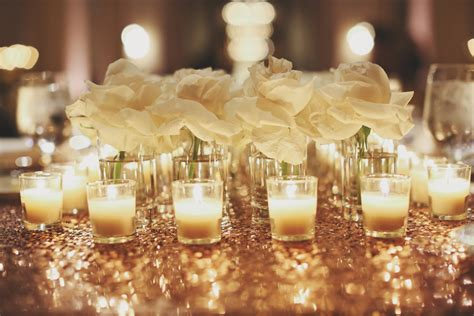 Rose And Votive Candle Centerpiece Elizabeth Anne Candle Wedding Centerpiece