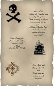 invitation wording pirate theme invitations