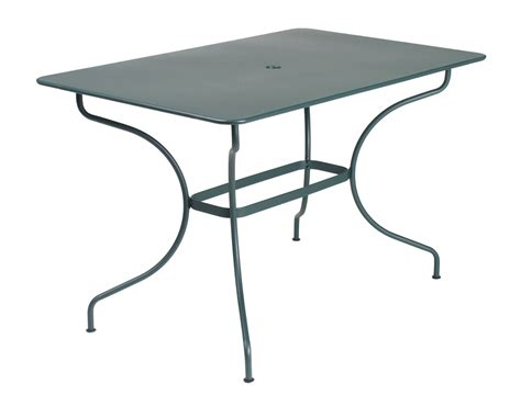 Table Bistro Fermob 117 X 77 Fermob Op 233 Ra Colourful Modern Rectangular Metal Outdoor Table For 6