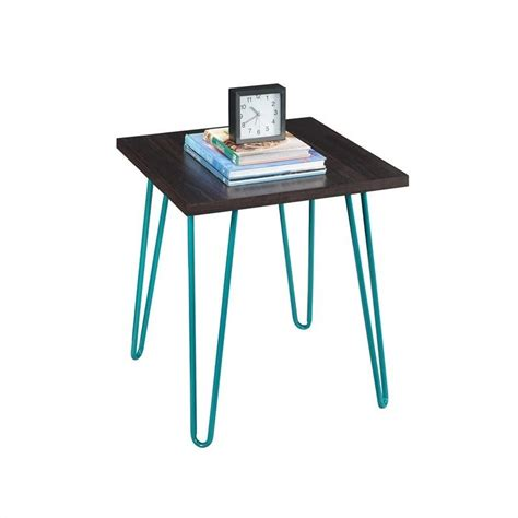 Teal Table L Altra Furniture Owen Retro End Table Espresso Finish With Teal Metal Legs 5068096pcom
