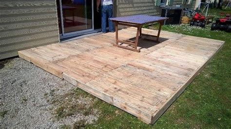 diy pallet patio furniture pallet deck