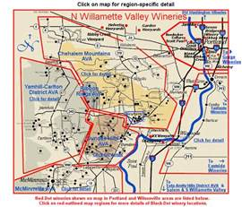 Eola Hills Wine Cellars - map page oregon s north willamette valley wine region