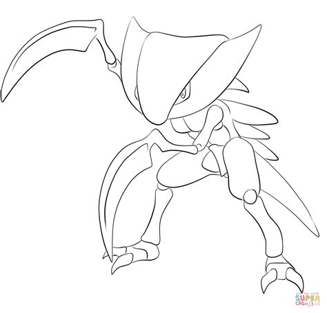 pokemon coloring pages heracross kabutops kleurplaat gratis kleurplaten printen