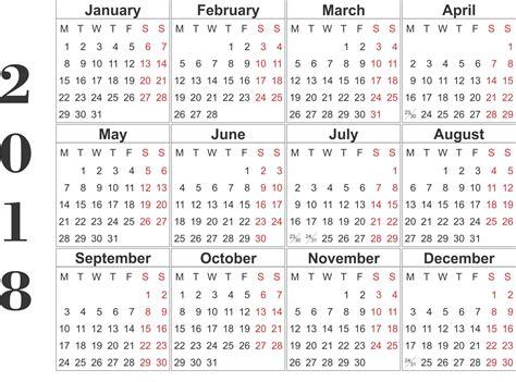 monthly calendar 2018 excel pdf word