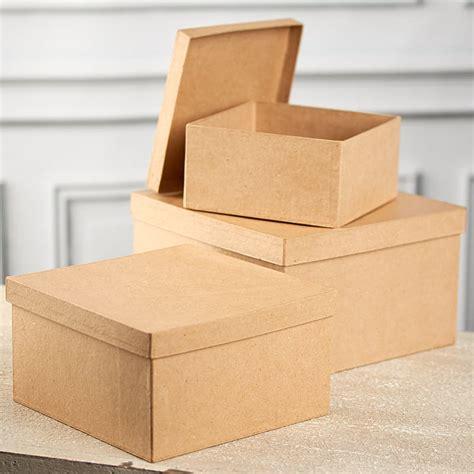 Paper Mache Craft Supplies - paper mache square box set paper mache basic craft