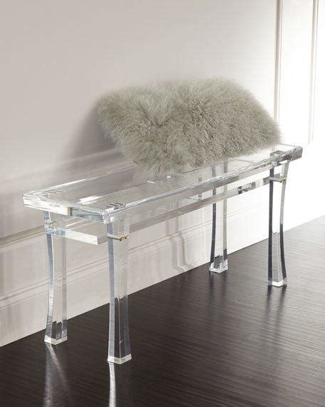 clear bench clear acrylic asian motif bench