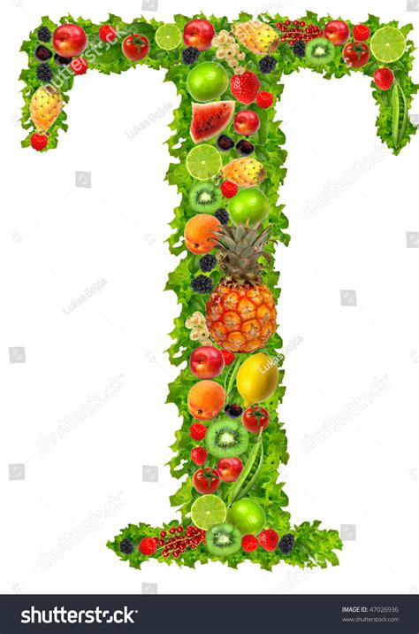 t fruits and vegetables fruit and vegetable letter t stock photo 47026936