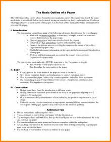 basic essay outline format 8 basic outline format coaching resume
