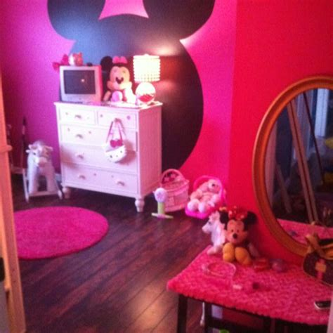 minnie mouse bedroom painting ideas my little girls minnie mouse bedroom in the big blue