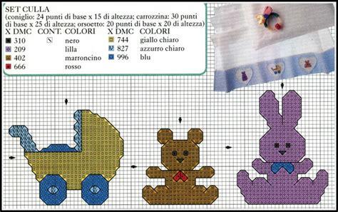 schemi punto croce lenzuolino culla gratis schemi lenzuolini punto croce da scaricare schemi per