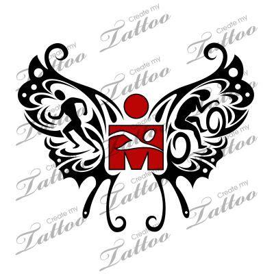 triathlon tattoo numbers marketplace tattoo sbink ironman triathlon butterfly