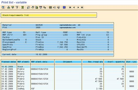 Entry Table Md04 Export Planning To Excel Sap Mental Notes