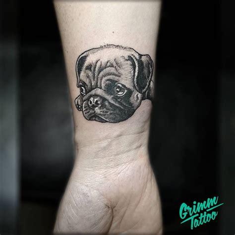 pug tattoo pinterest pug tattoo dog tattoo small portrait tattoo by emre