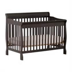 Black Convertible Baby Cribs Stork Craft Modena 4 In 1 Fixed Side Convertible Crib In Black 387534