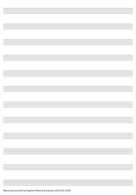 printable manuscript paper a4 learn piano at stephens music computers