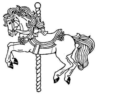 coloring pages of carousel horses free carousel horses coloring pages