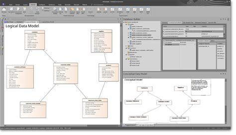 database model tool enterprise architect uml design tools and uml tools