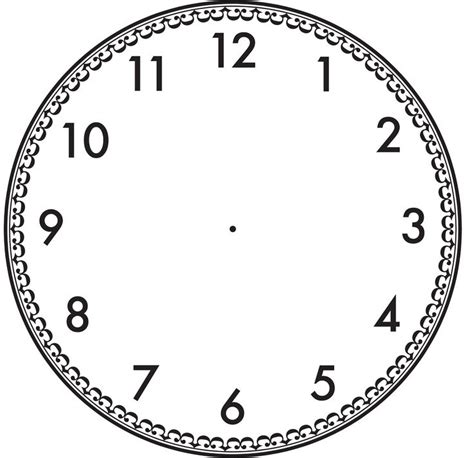 printable a4 clock face 17 best images about clock face templates on pinterest