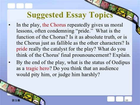 Oedipus The King Essay Questions by Essay Topics Oedipus The King