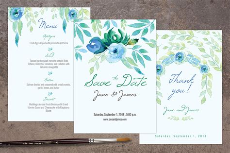 14 free wedding templates for photoshop images free blue wedding invitation pack invitation templates on