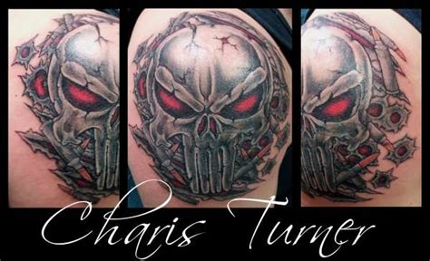 punisher tribal tattoo the punisher skull