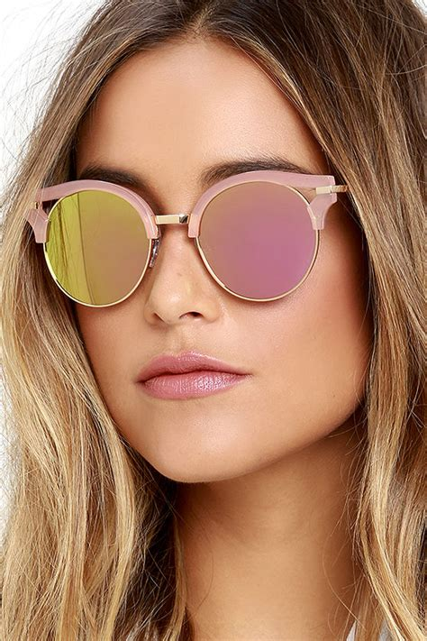 0204s Pink Pink Mirror Lens cool pink sunglasses mirrored sunglasses sunglasses 19 00