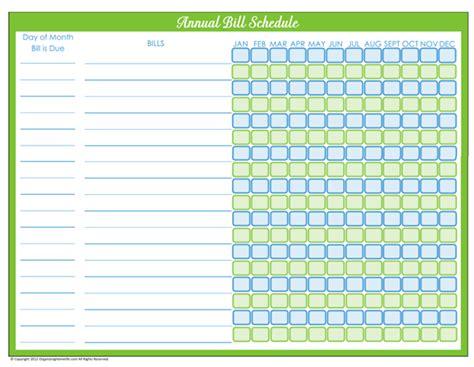 bill planner printable free 31 days of home management binder printables day 6