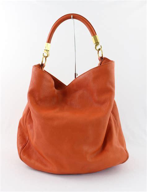 ebay ysl bag ysl yves saint laurent orange leather roady handbag