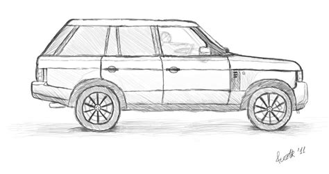 range rover drawing range rover sport free colouring pages