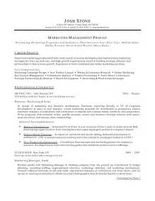 Profile Resume Sles by Marketing Resume Tips Recentresumes