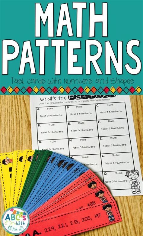 pattern strategy math math patterns problem solving task cards and math patterns