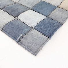 Logan Patchwork - mezclilla on recycled denim denim quilts and