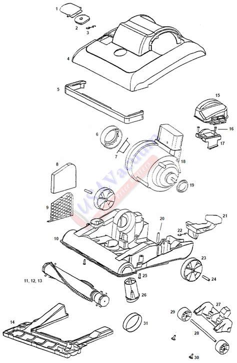 Eureka Vaccum Parts eureka 7625 bravo ii direct air upright vacuum parts usa vacuum