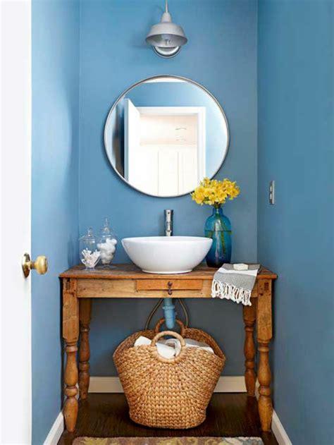 kleines blaues badezimmer 70 einmalige modelle waschtisch aus holz archzine net