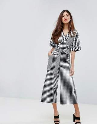 Dress Pullbear Gingham Check Top With Elastic Neckline sydney fashion week gingham fashion trend