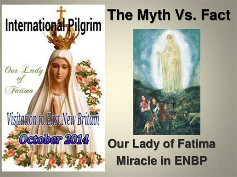 The Miracle Of Our Of Fatima Our Of Fatima Miracle In East New Britain Papua New Guinea