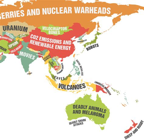the dog house diaries this map showing what each country leads the world in is really quite cool