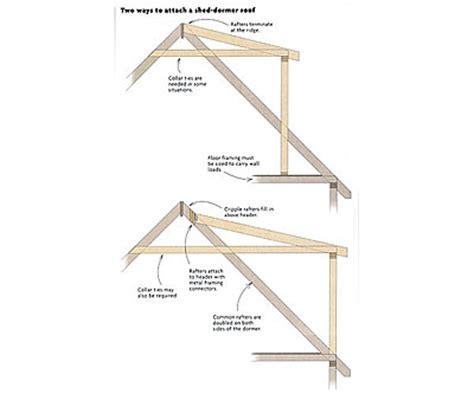 Dormer Construction Plans Attaching A Shed Dormer Roof Homebuilding