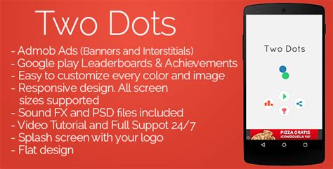 two dots promotions two dots admob leaderboards by gikdew codecanyon