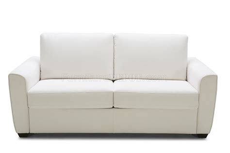 alpine premium sofa bed in white microfiber fabric by j m